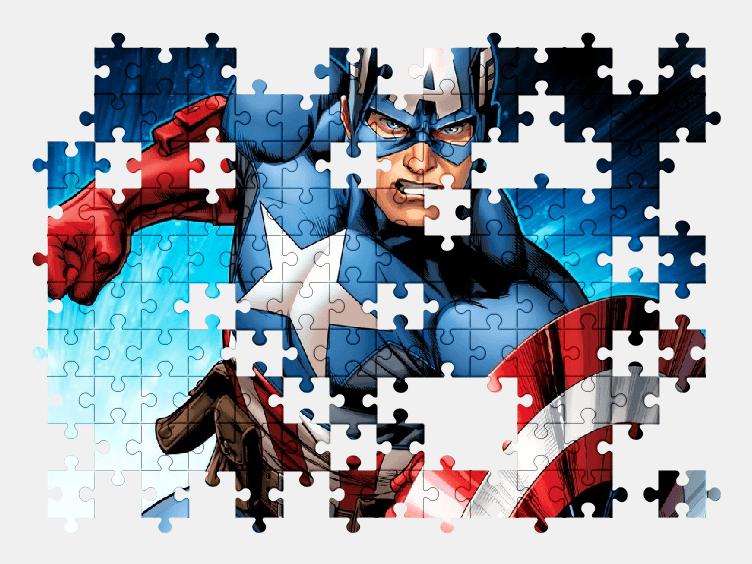 Пазлы Онлайн Капитан Америка