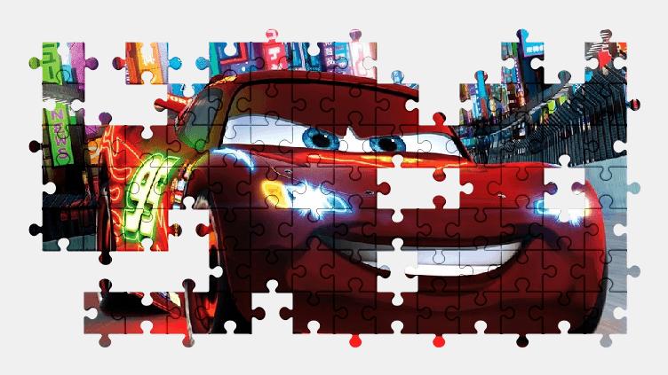 Пазлы Онлайн Мультфильм Автомобили