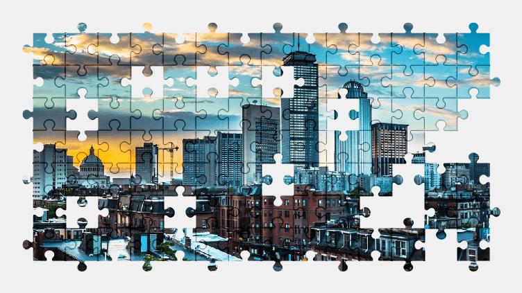 Пазлы Онлайн Бостон