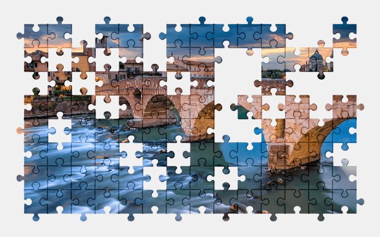 Пазлы Онлайн Здания, Мост