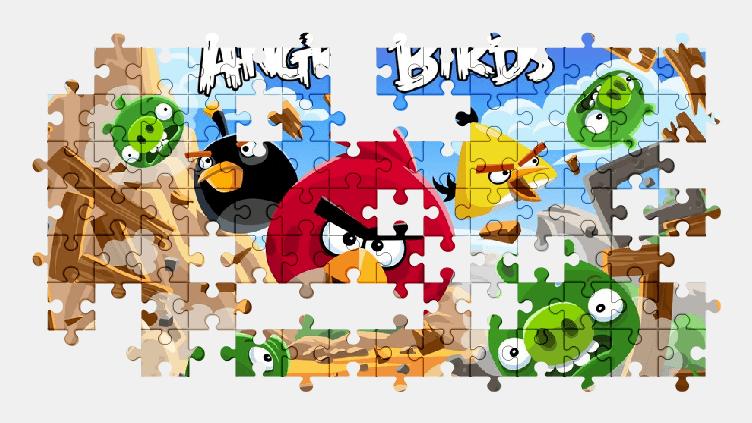 Пазлы Онлайн Злые Птицы
