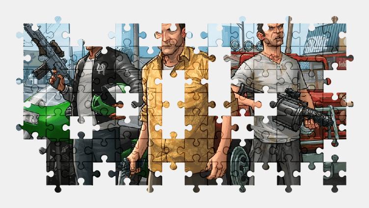 Пазлы Онлайн Grand Theft Auto
