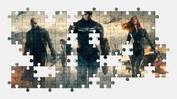 Пазлы Онлайн Первый Мститель: Другая Война