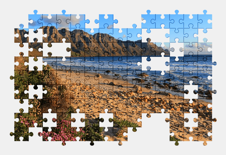 Пазлы Онлайн Пляж, Море, Песок, Лето