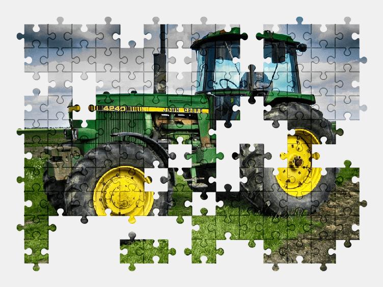 Пазлы Онлайн Трактор