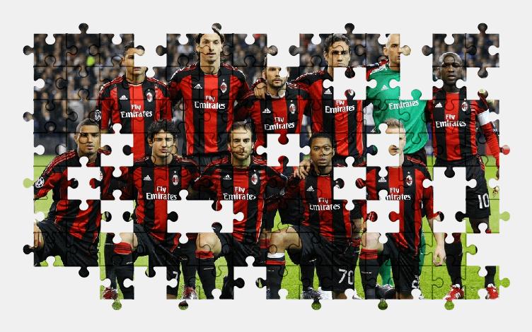 Пазлы Онлайн Милан Команда