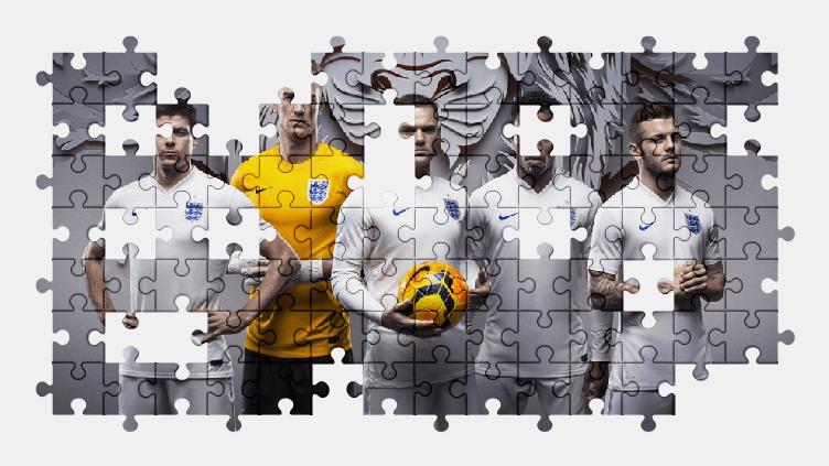 Пазлы Онлайн Сборная Англии по Футболу