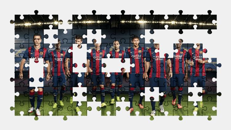 Пазлы Онлайн ФК Барселона